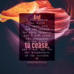 Isa 13:11 | Scripture Pictures @ alittleperspective.com