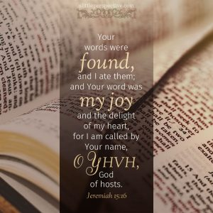 Jer 15:16 | scripture pictures at alittleperspective.com