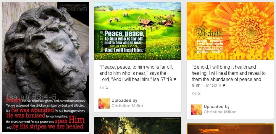 scripture pictures pinned to pinterest
