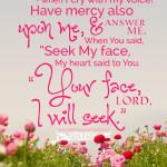 Psa 27:7-8