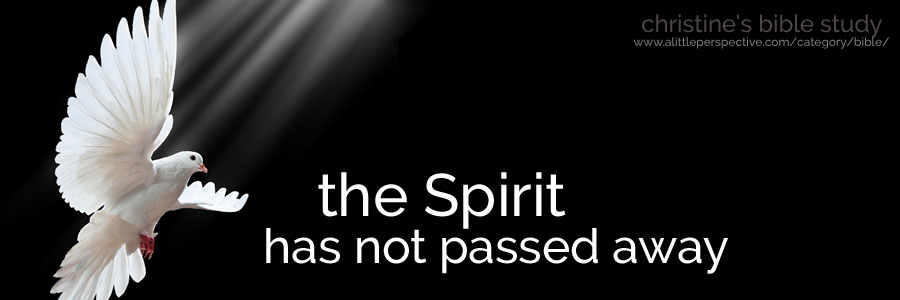 the Spirit has not passed away | christine's bible study at a little perspective
