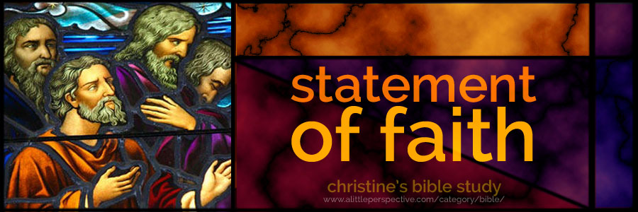 statement of faith | christine's bible study at a little perspective