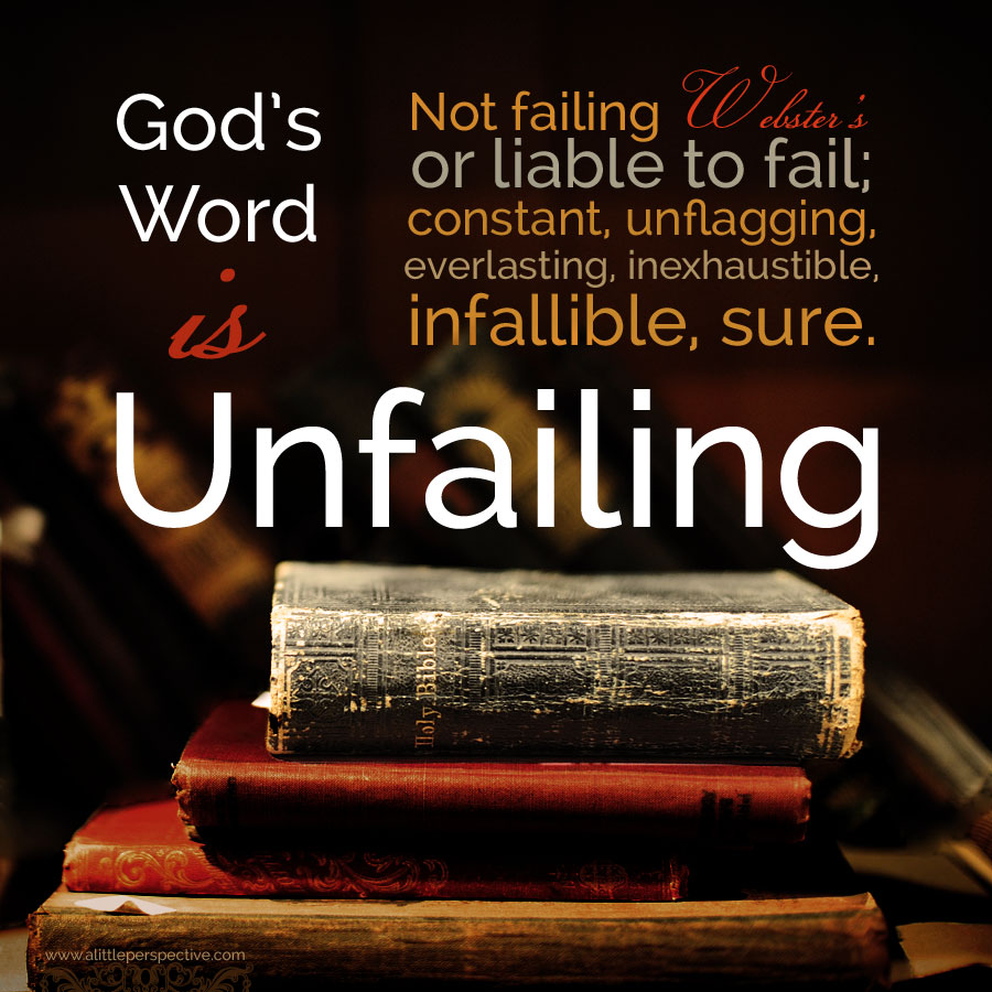 God's word is unfailing | a little perspective