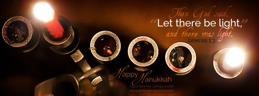 Hanukkah 1st night | Gen 1:3 | scripture pictures at alittleperspective.com
