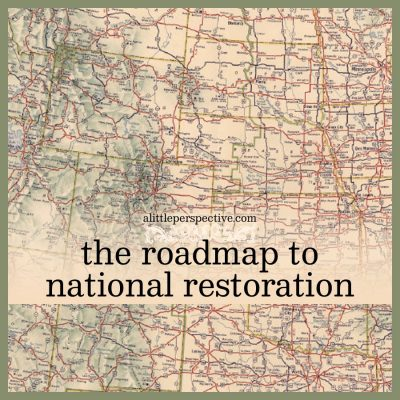 the roadmap to national restoration