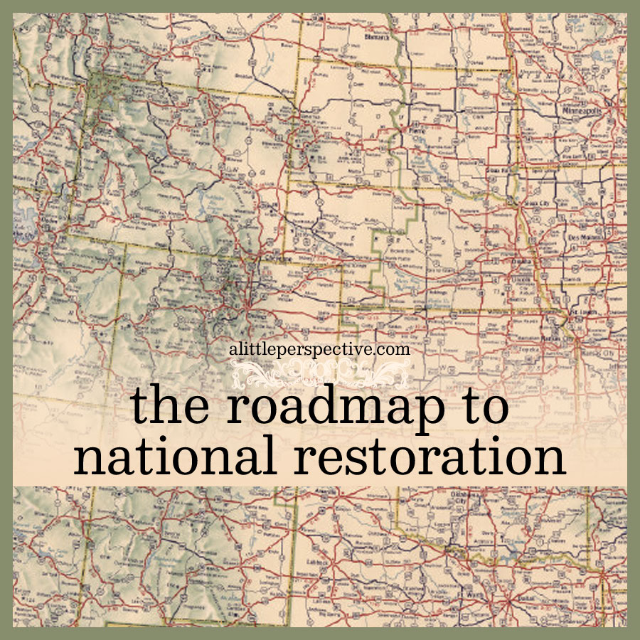 the roadmap to national restoration | alittleperspective.com