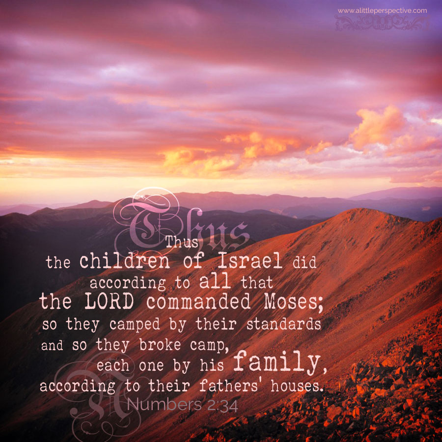 Num 2:34 | scripture pictures at alittleperspective.com