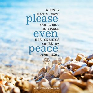 Pro 16:7 | scripture pictures at alittleperspective.com