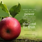 Pro 18:21 scripture pictures at alittleperspective.com