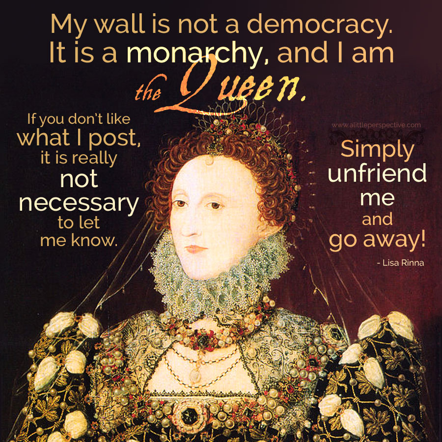 My wall is not a democracy ...