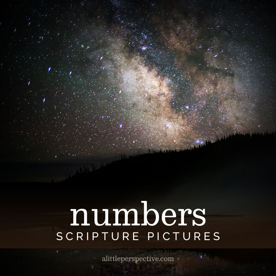 numbers scripture pictures | alittleperspective.com