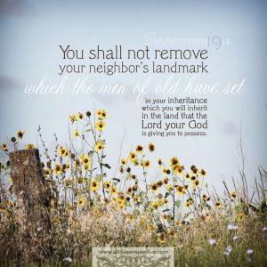 Deu 19:14 | scripture pictures at alittleperspective.com