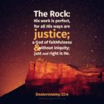 Deu 32:4 | Scripture Pictures @ alittleperspective.com