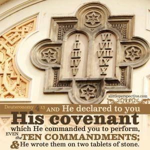 Deu 4:13 | scripture pictures at alittleperspective.com