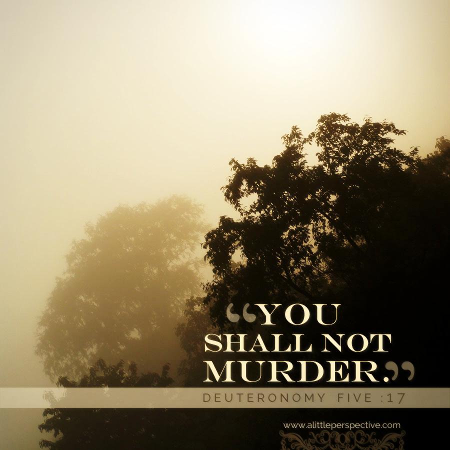 Deu 5:17 | Scripture Pictures @ alittleperspective.com