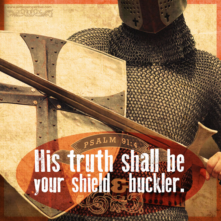 His truth shall be your shield and buckler. Psa 91:4b