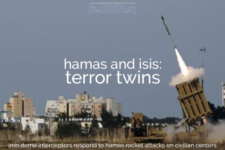 hamas and isis: terror twins | alittleperspective.com