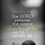 Psa 116:6 cell wallpaper | scripture pictures at alittleperspective.com