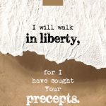 Psa 119:45 cell wallpaper | scripture pictures at alittleperspective.com