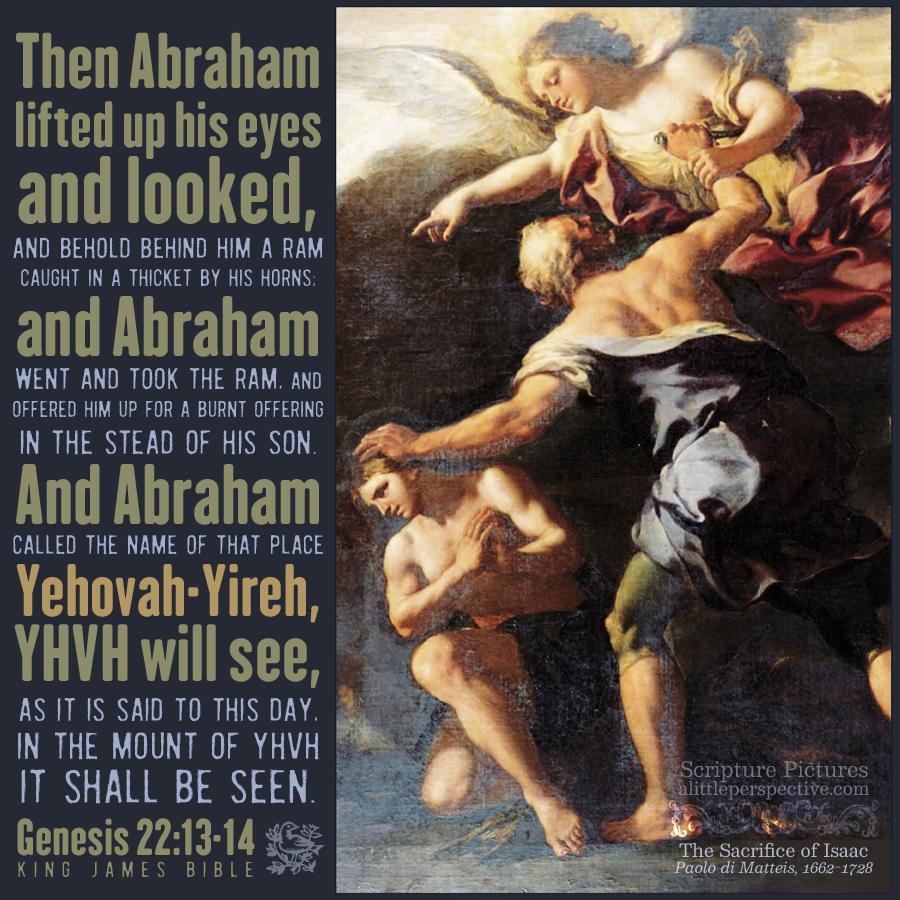 Gen 22:13-14 | Scripture Pictures @ alittleperspective.com
