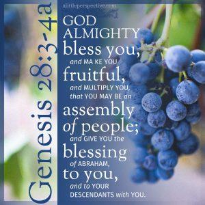 Gen 28:3-4a | scripture pictures at alittleperspective.com