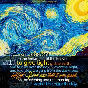 Gen 1:17-19 | scripture pictures at alittleperspective.com