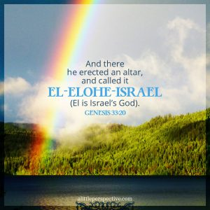 Gen 33:20 | scripture pictures at alittleperspective.com