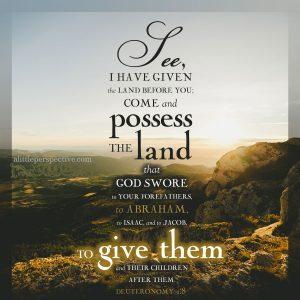 Deu 1:8 | scripture pictures at alittleperspective.com