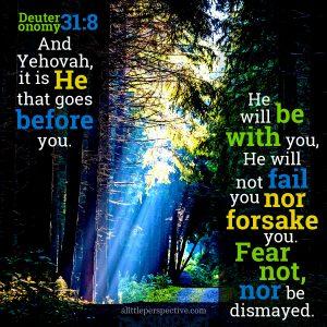 Deu 31:8 | scripture pictures at alittleperspective.com