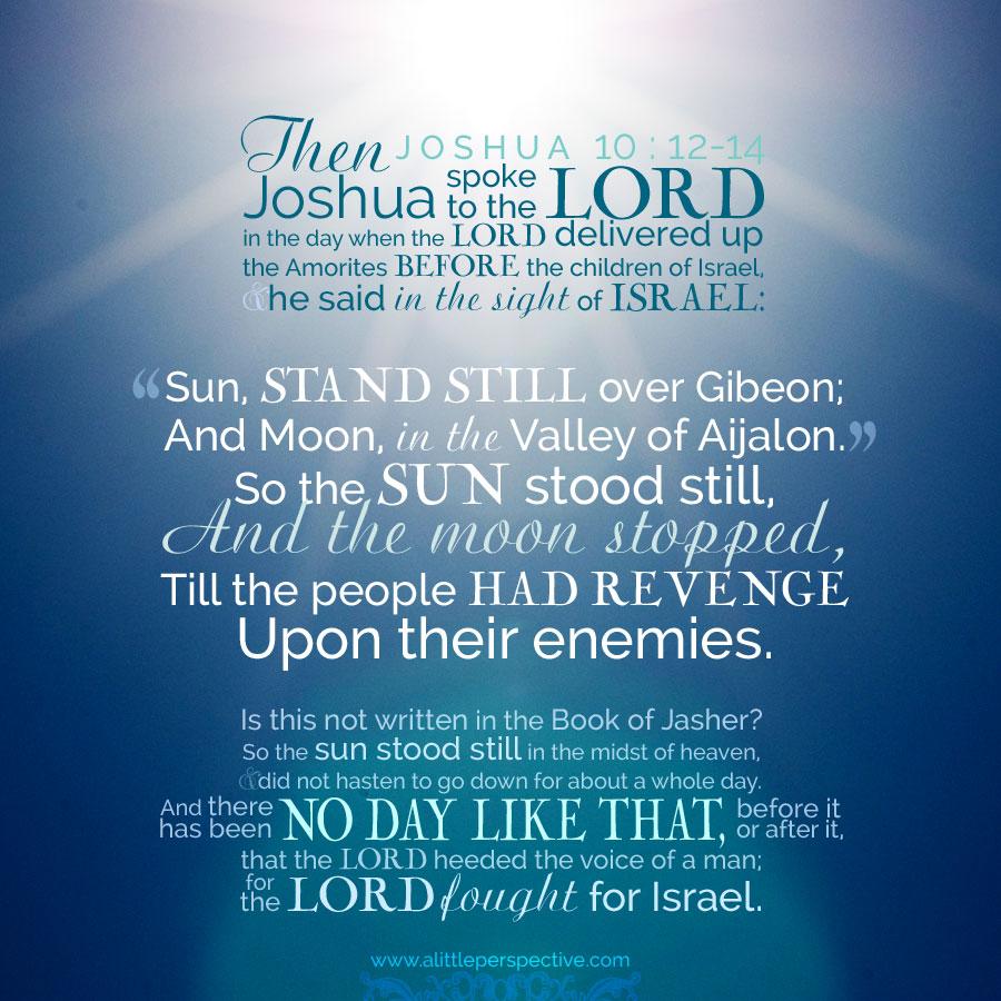 Jos 10:12-14