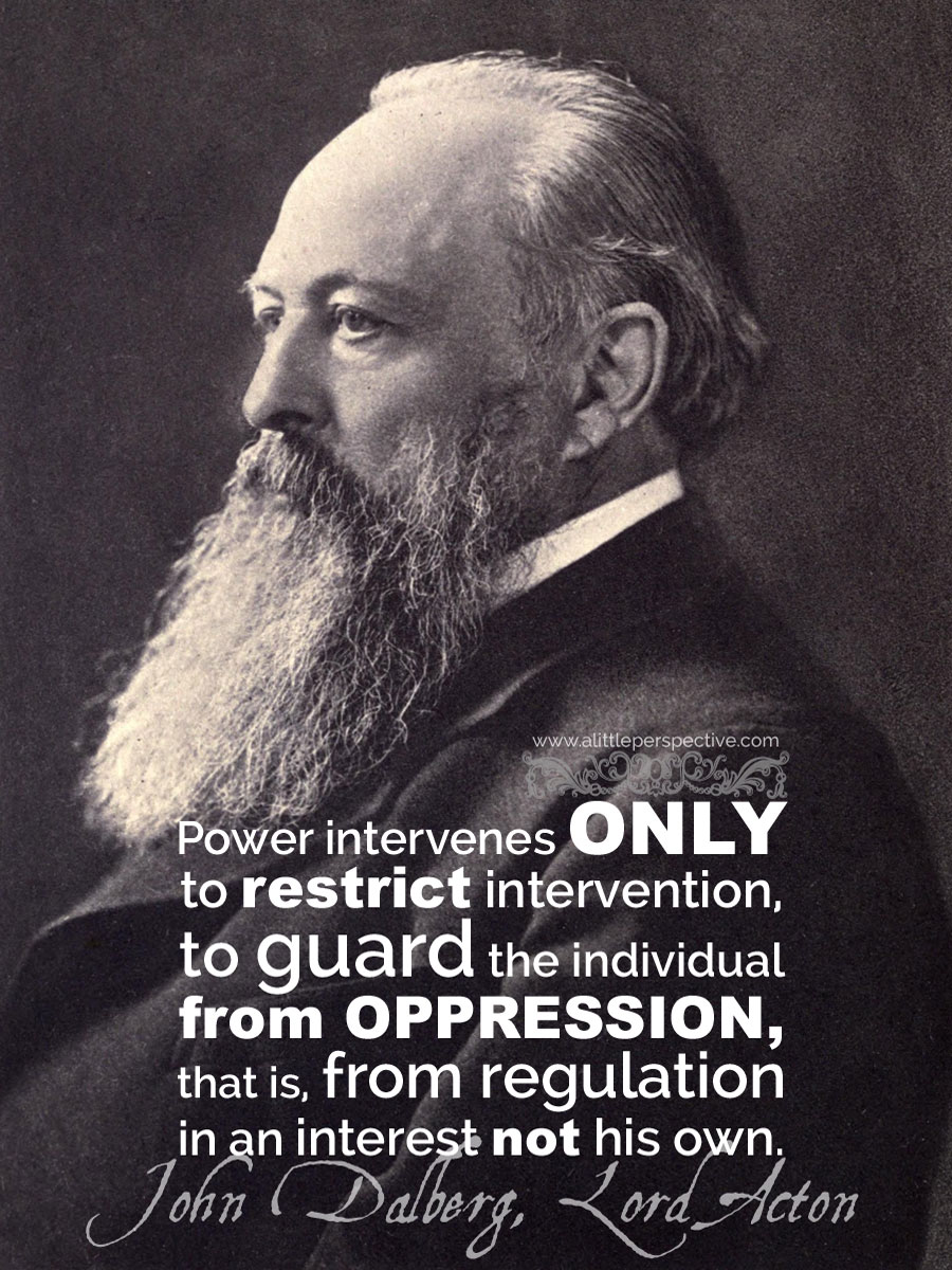 lord acton on economies and governments