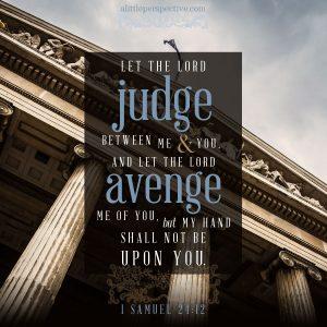 1 Sam 24:12 | scripture pictures at alittleperspective.com