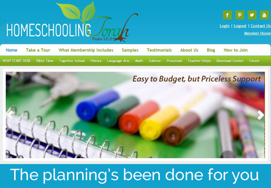 Homeschooling Torah | The planning's been done for you