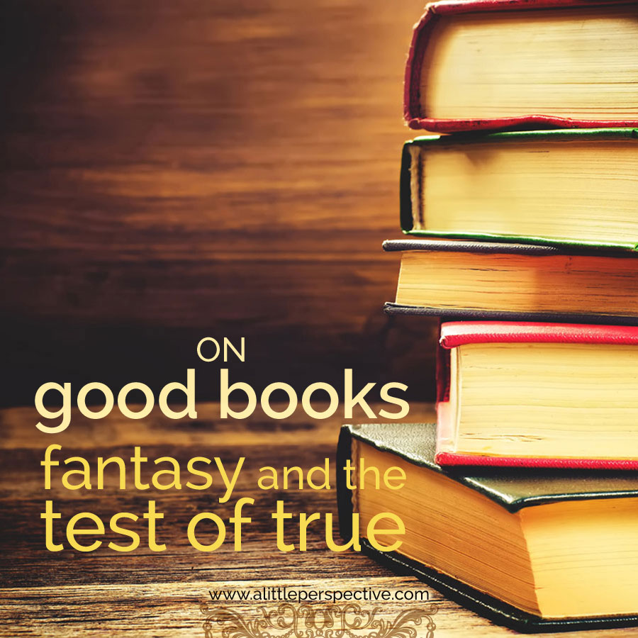 on good books: fantasy and the test of true | biblical homeschooling at a little perspective
