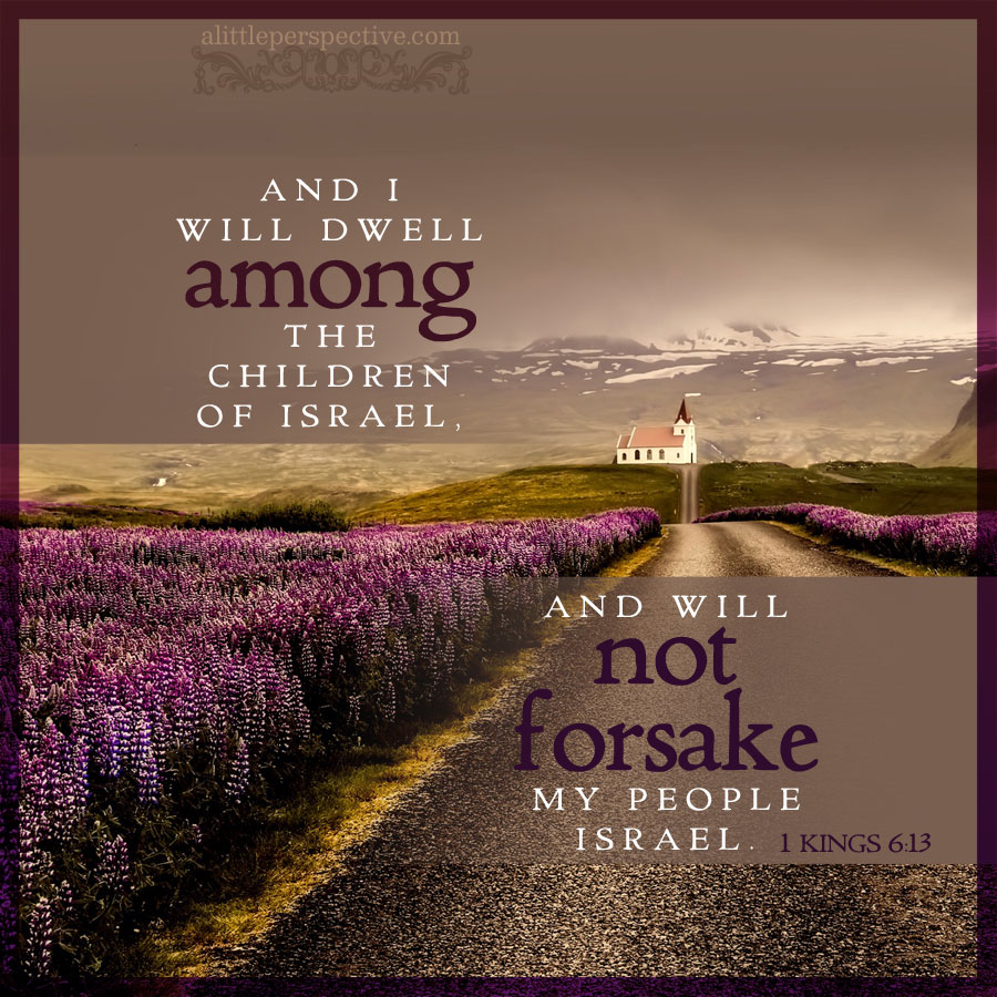 1 Kin 6:13 | scripture pictures at alittleperspective.com
