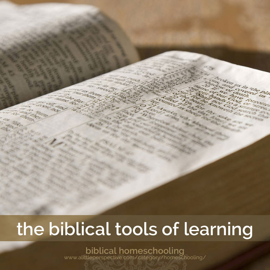the biblical tools of learning