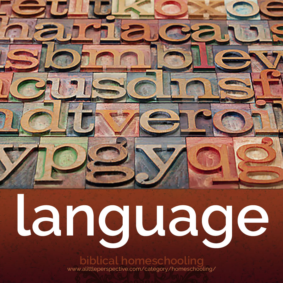 language index | biblical homeschooling at alittleperspective.com