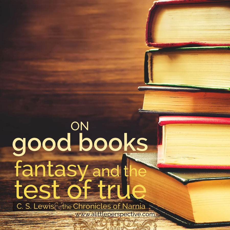 on good books: fantasy and the test of true: c. s. lewis and the chronicles of narnia | biblical homeschooling at alittleperspective.com