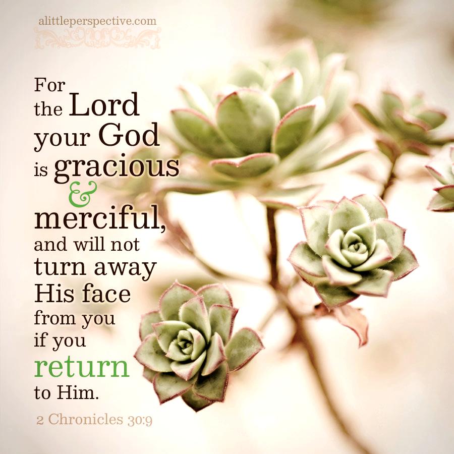 2 Chr 30:9 | scripture pictures @ alittleperspective.com