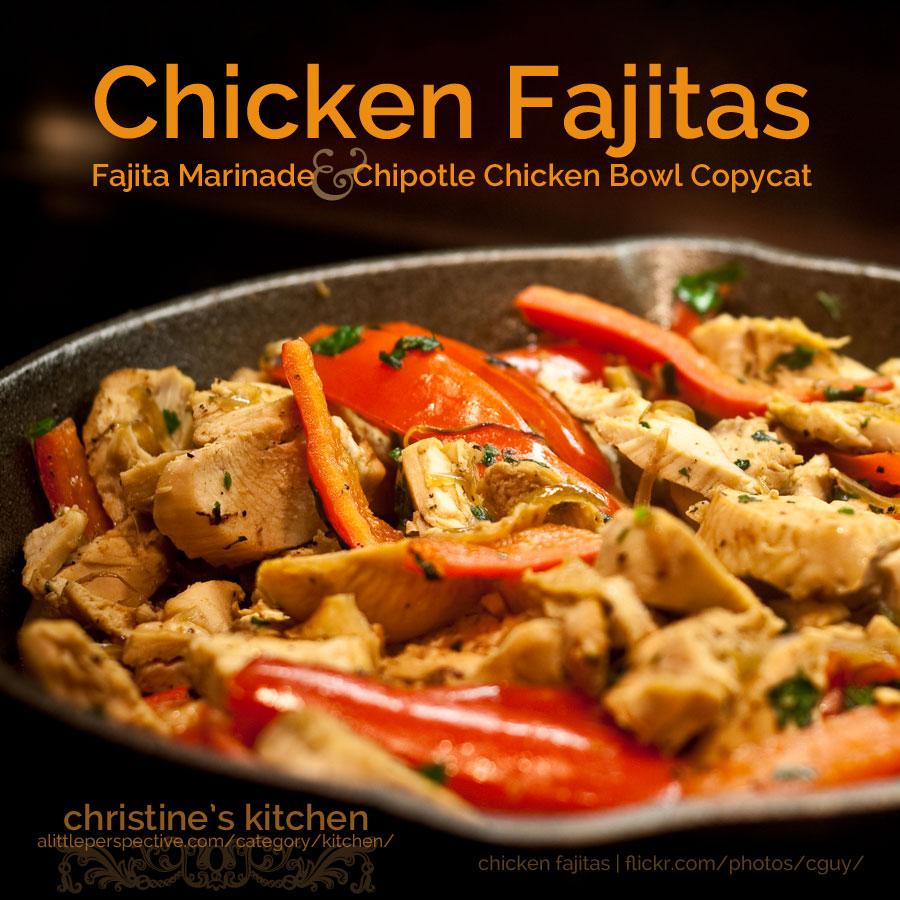 chicken fajita bowl (chipotle copycat)