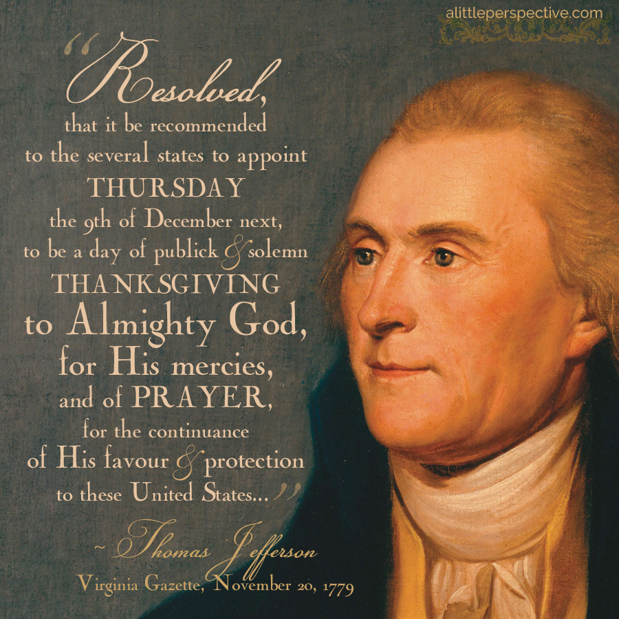 thomas jefferson's thanksgiving proclamation