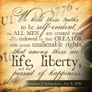 The Declaration of Independence | alittleperspective.com