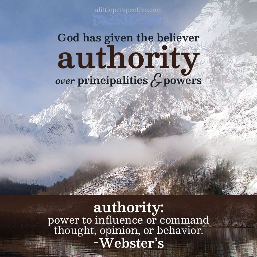 God has given the believer authority | scripture pictures at alittleperspective.com