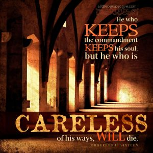 Pro 19:16   scripture pictures at alittleperspective.com