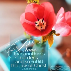 Gal 6:2   scripture pictures at alittleperspective.com