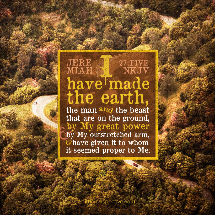 Jer 27:5 | scripture pictures at alittleperspective.com
