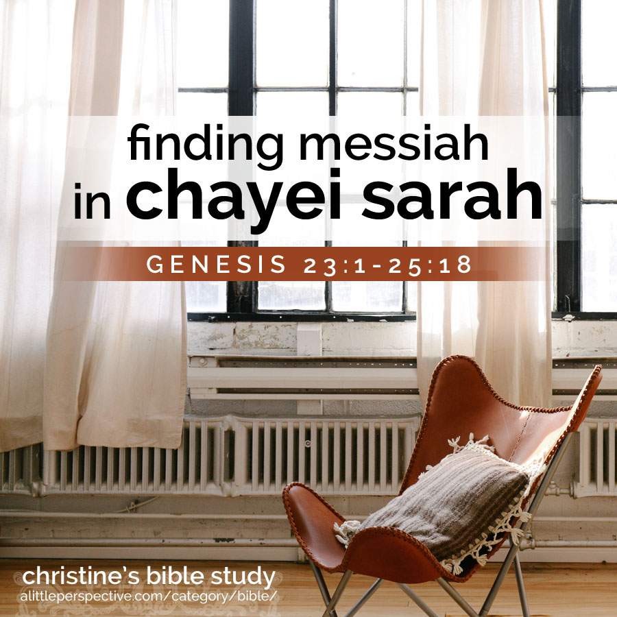 finding messiah in chayei sarah, gen 23:1-25:18 | christine's bible study at alittleperspective.com