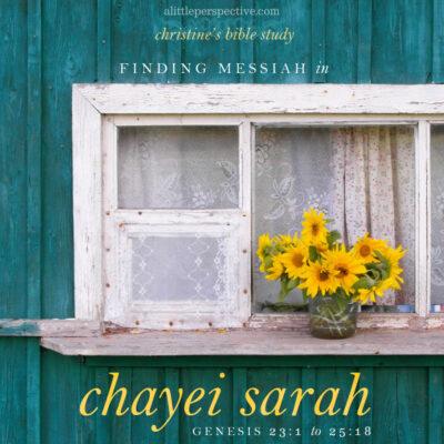 finding messiah in chayei sarah, gen 23:1-25:18