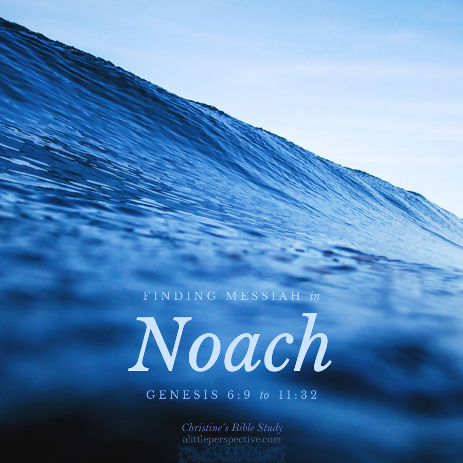 Finding Messiah in Noach, Genesis 6:9-11:32 | Christine's Bible Study @ alittleperspective.com