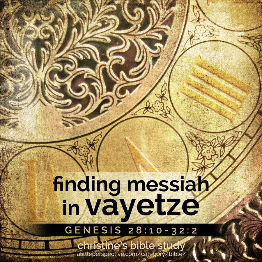 finding messiah in vayetze, gen 28:10-32:2 | christine's bible study at alittleperspective.com